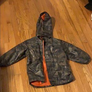 Carter's camouflage raincoat